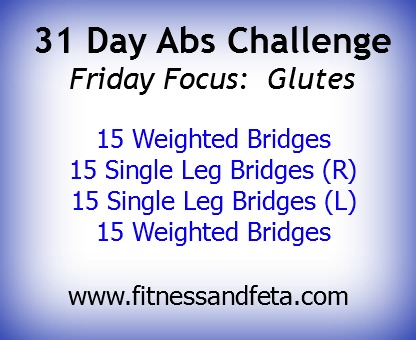 31 Day Abs Challenge:  Focus On Glutes