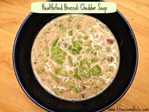 Healthified Broccoli Cheddar Soup