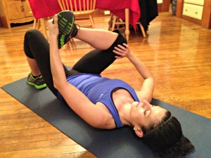 Knee & Foot Pull In Stretch