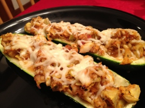 Meatless Tuscan Baked Zucchini
