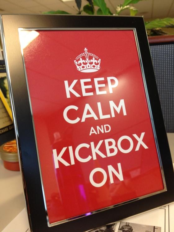 keep calm and kickbox on