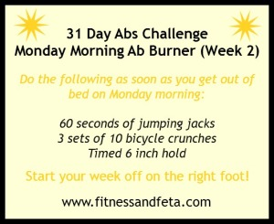 Monday Morning Ab Burner Week 2