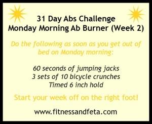 Monday Morning Ab Burner Week 2