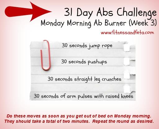 Monday Morning Ab Burner Week 3