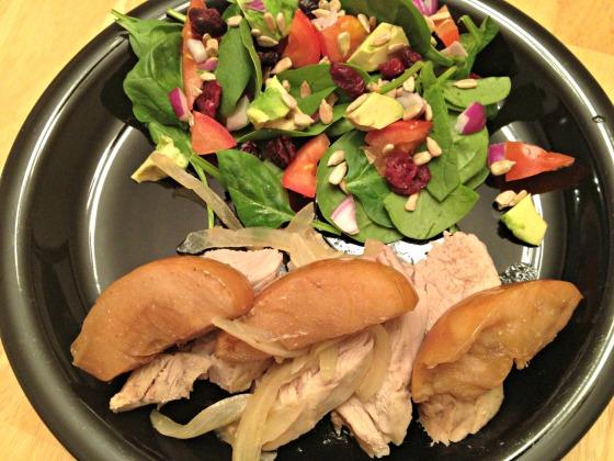 Pork & Apples with Salad
