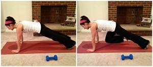 Straight Arm Plank with Alternating Knee Tucks