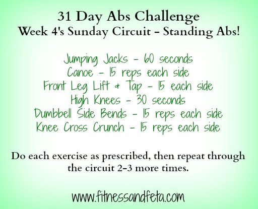 Sunday Circuit - Standing Abs