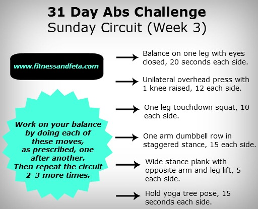 31 Day Abs Challenge Sunday Circuit Week 3