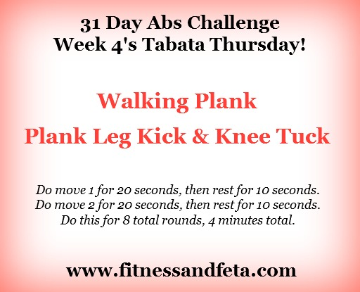 31 day abs challenge tabata thursday week 4