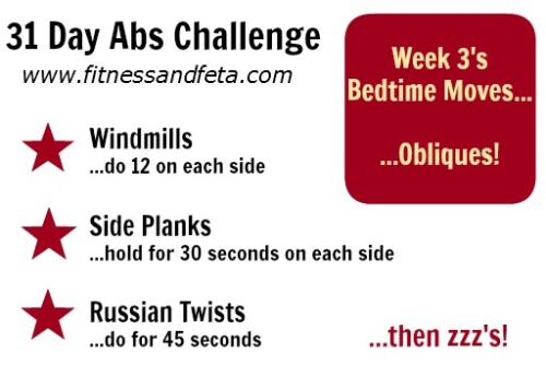 Wednesday Bedtime Moves for Obliques