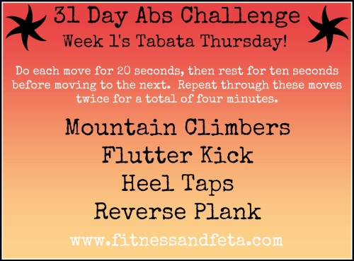 31 Day Ab Challenge - Week 1 Tabata Thursday