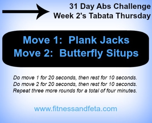 Week 2 Tabata Thursday