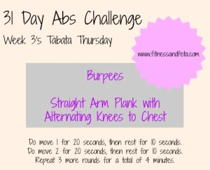Week 3 Tabata Thursday