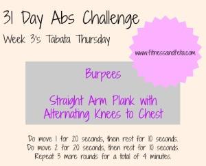 Week 3 Tabata Thursday