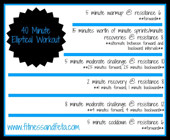 40 Minute Elliptical Workout
