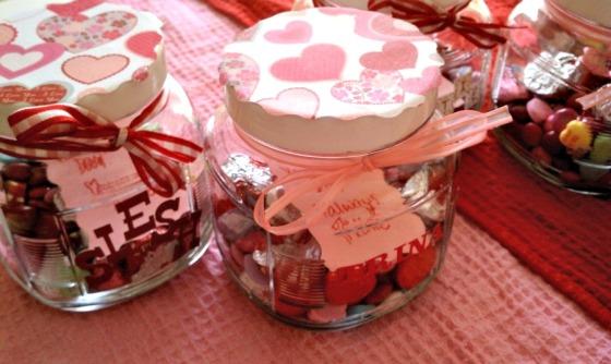 DIY Valentine's Candy Jars
