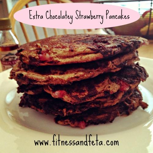Extra Chocolatey Strawberry Pancakes