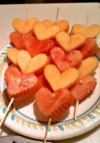 Healthy Valentine's Day Fruit Skewers