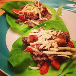 Ground Turkey Lettuce Wrap Tacos