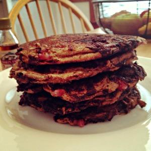 Extra Chocolately Strawberry Pancakes