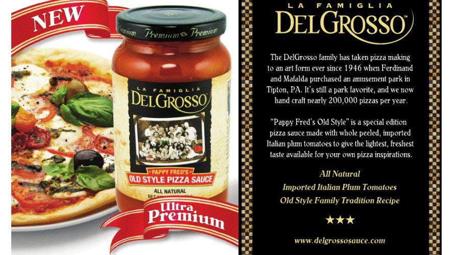 La Famiglia DelGrosso Pappy Fred's Old Style Pizza Sauce