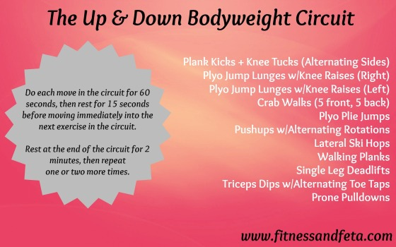 The Up & Down Bodyweight Circuit