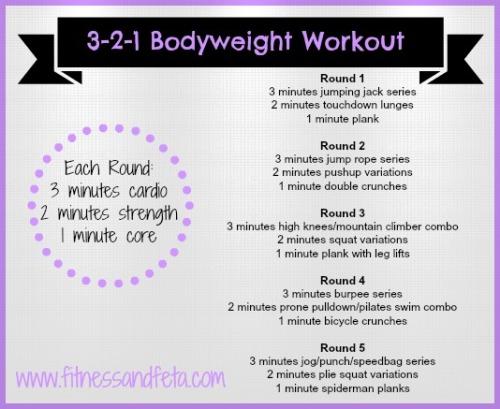 3-2-1 bodyweight workout