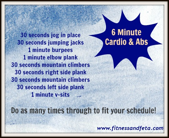 6 Minute Cardio & Abs