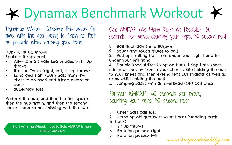 Dynamax Benchmark Workout