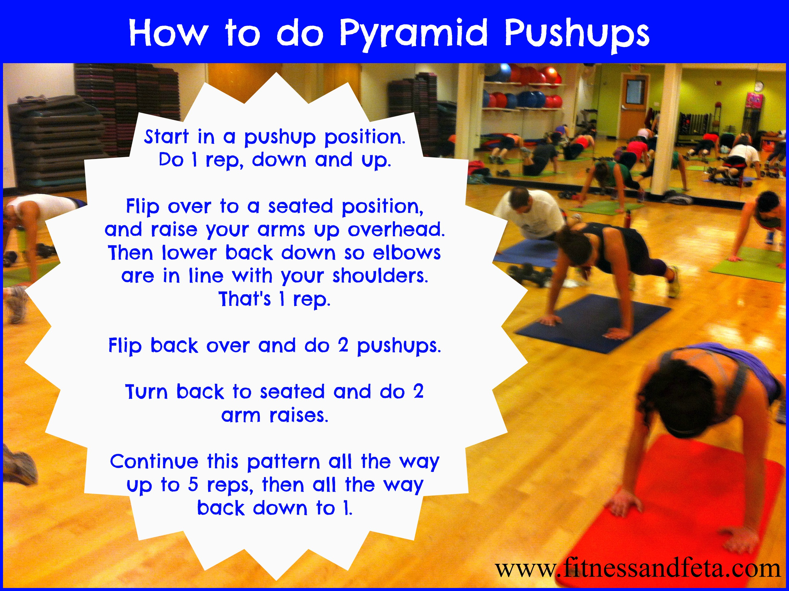 How to do pyramid pushups