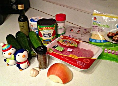 Ingredients for Zucchini Lasagna