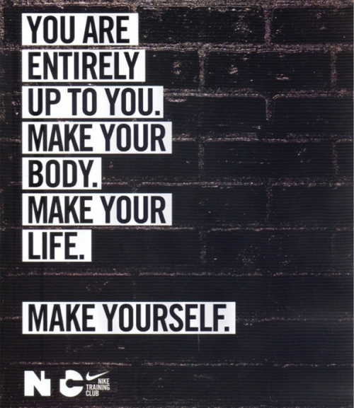 Make Yourself Nike Quote