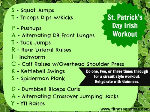 St. Patrick's Day Workout