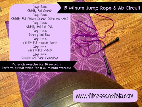 15 minute jump rope & ab circuit