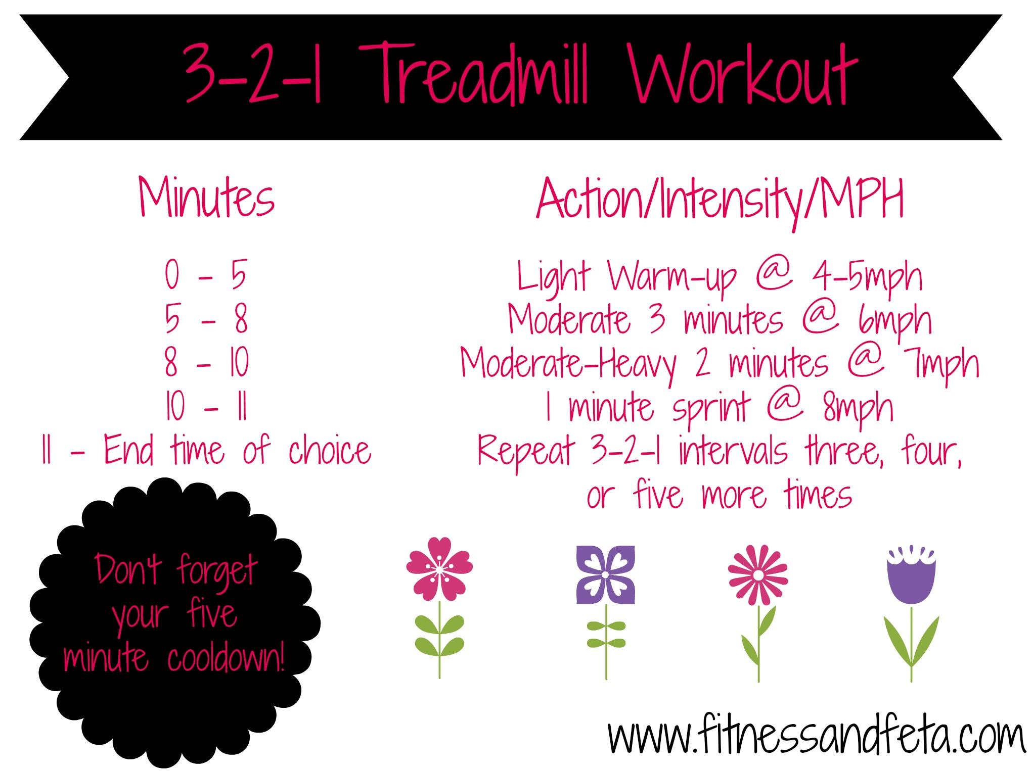 3-2-1 Treadmill Workout
