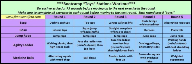 Bootcamp Toys Workouts