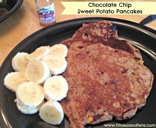 Chocolate Chip Sweet Potato Pancakes