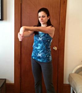 Biceps Palm Pulldown Stretch