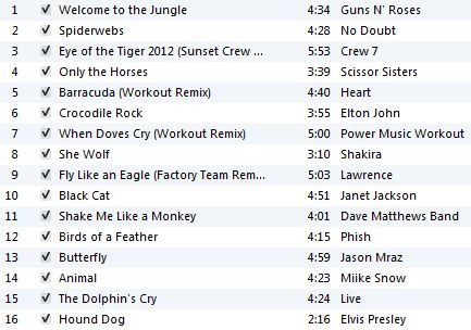 Animal Workout Playlist