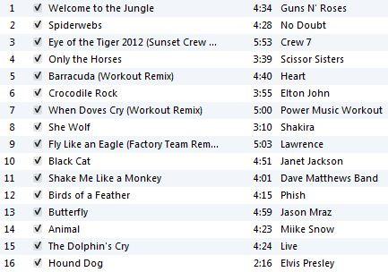 Animal Workout Playlist
