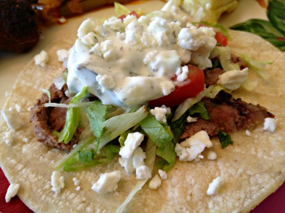 Greek Easter 2013:  Lamb Tacos