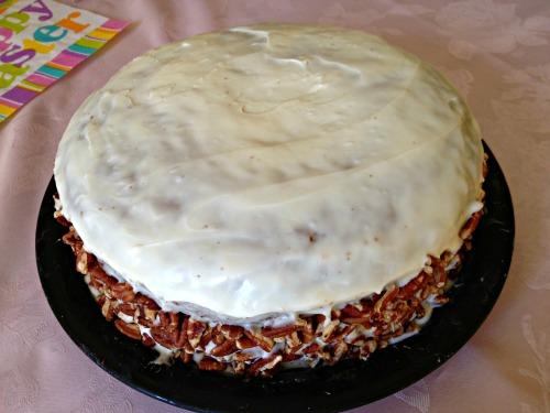 Pecan Crusted Carrot Cake