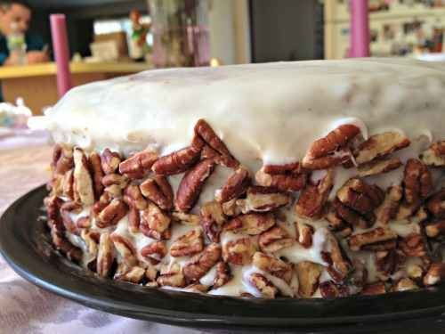 Pecan Crusted Carrot Cake