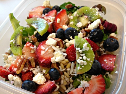 Barley fruit salad