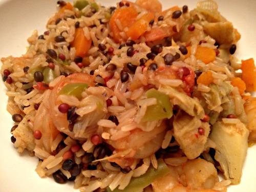Shrimp and veggie stir fry