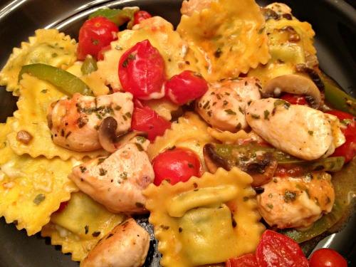 Chicken Ravioli Skillet