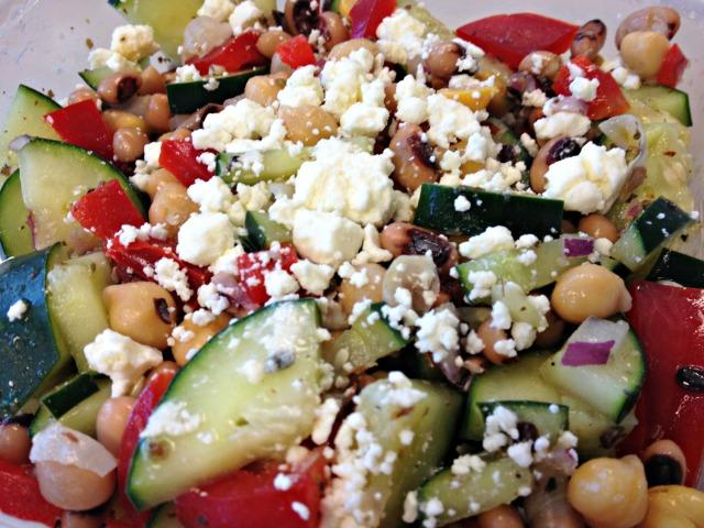 Cucumber and Black Eyed Pea Salad