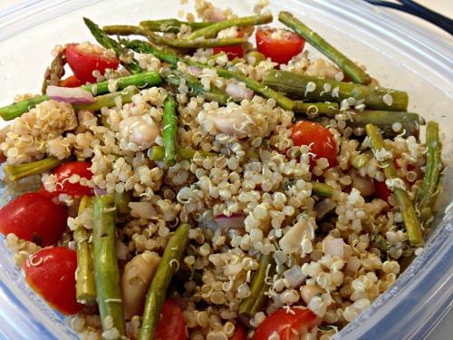 Lemon asparagus quinoa