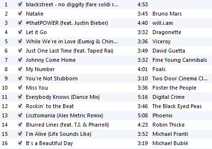May Playlist 2013