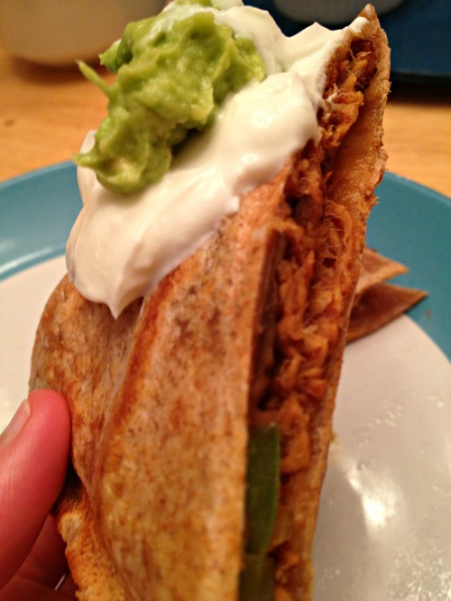 Pulled BBQ Chicken Quesadilla
